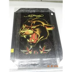 Wall Art by Ed Hardy - Angry Cat?