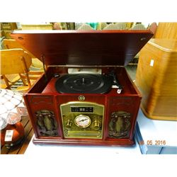 Reproduction Radio Record Player / CD Combo