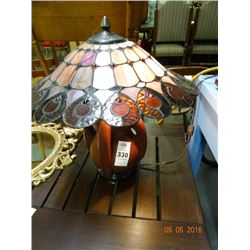 Leaded Glass Oriental Lamp