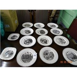 Homer Laughlin ?? Decorator Wall Plates w/Hangers
