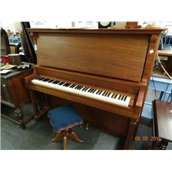 Mahogany Upright Piano w/Stool