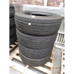 Good Year 245/70R19.5 Tires (4)