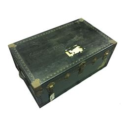 * Antique Leather Steamer Trunk