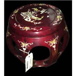 * Asian Zitanmu Open Barrel Seat with Mother of Pearl Inlay