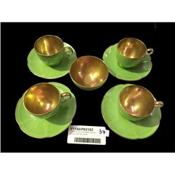 * Royal Winton Demitasse Cups & Saucers with Gilt Inside