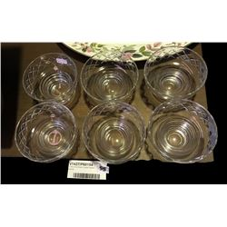 * Set of Six Stuart Crystal Dessert Dishes
