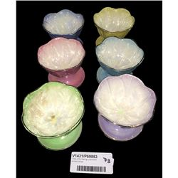 * Set of Six Maling Lustreware Sorbet Dishes