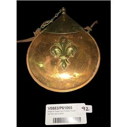Brass & Copper Gun Powder Pouch wit Fleur-de-lis Motif