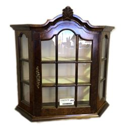 * Antique Wall Mounted Display Cabinet with Key