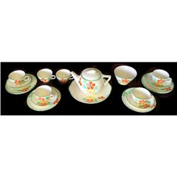 * Art Deco Weatherby English Fine China Teaset with Teapot