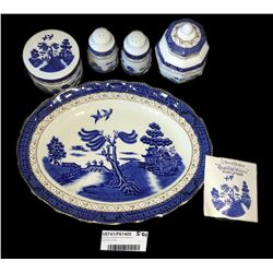 * Group of Royal Doulton Booths Old Willow China