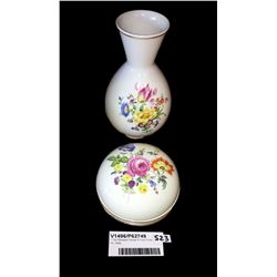 * Two Meissen Pieces of Fine China Inc. Vase
