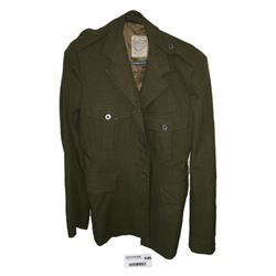 * Vintage Green Army Officers Coat