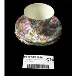 "* Lord Nelson Chintz China 3-Pc Trio ""Marina"" Pattern"