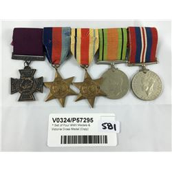 * Set of Four WWII Medals & Victoria Cross Medal (Copy)