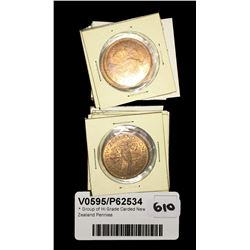 * Group of Hi Grade Carded New Zealand Pennies