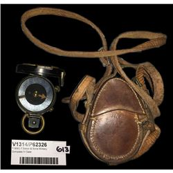 * WWI F Baker & Sons Military Compass In Case