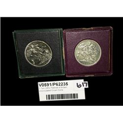 * Two 1951 Festival of Britain Uncirculated Crown Coins