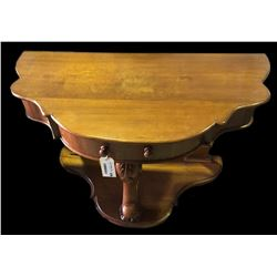 * 1860's Serpentine Front Hall Console