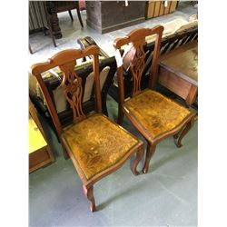 * Pair of Antique Mahogany Dining Chairs