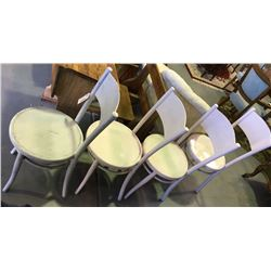 * Four Bentwood Chairs Painted White