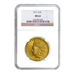 1912 $10 Indian Gold Eagle MS63
