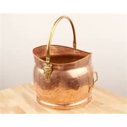 Antique Brass Fireplace Bucket with Accessories