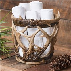 Antler Basket with Candles