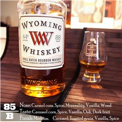 Wyoming Whiskey with High Ball Glasses