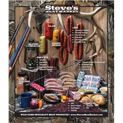 $100 Gift Certificate to Steve's Meat Market.