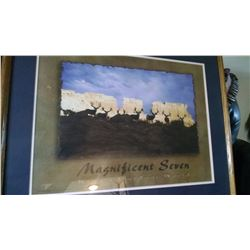 Framed picture of the Magnificent Seven by Kings Outdoor World.