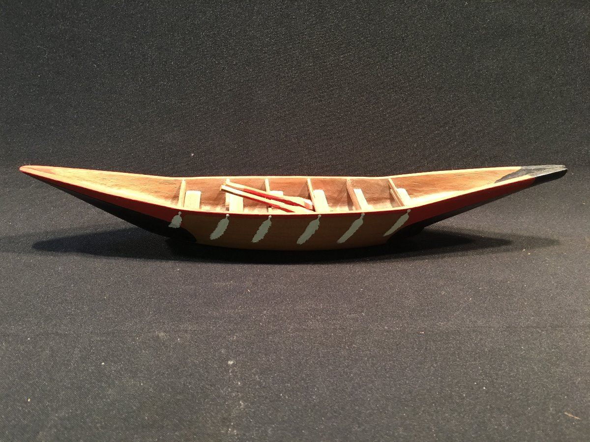 18 BARK Image 3 LOT OF BC FIRST NATIONS ORNAMENTAL CANOES INC