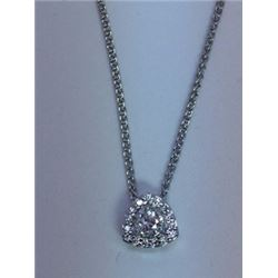 CUSTOM WHITE GOLD AND DIAMOND PENDANT