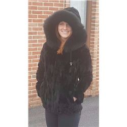 CLASSIC REVERSIBLE SHEARED MINK PARKA WITH DETACHABLE HOOD