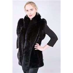 Black Mink Vest from Muscalus Furs