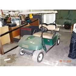 EZ Go Electric Golf Cart w/Rear Seat & Charger (Needs Charging or Batteries)