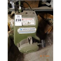 Wisconsin Gas Power Motor - Needs Service - Missing Carb.