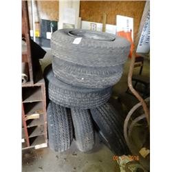 Lof of Assorted Size Tires (6)
