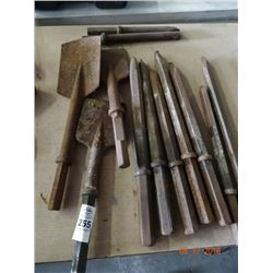 Lot of Hammer Chisels