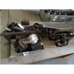 Lot of Pipe Threading Tools