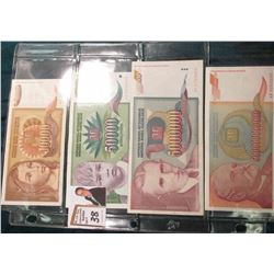 (4) Yugoslavia Bank Notes, including 10,000; 50,000; 5,000,000; & 500 Billion Dinara.