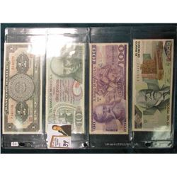 (4) Mexico Bank Notes including 1967 One Peso, 1969 Ten Peso, 1974 100 Peso, & 1989 2,000 Peso. VF-C