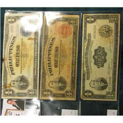 (3) Different Philppines Islands Bank Notes.