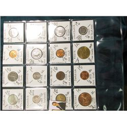 (16) BU World Coins from 15 Countries. KM value $30.90.
