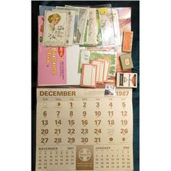 "Large Format Calendar Dec. 1987 through Dec. 1988 put out by the ""Santa Fe"" Railroad; ""Eskimo Christ"