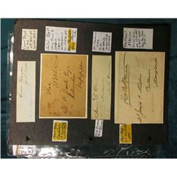 "(10) Original Autographs of famous people. Overwhelming Collection, which features ""To Mr. Hugh A. C"