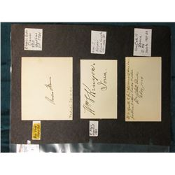 "(6) Original Autographs of famous people. Part of a unique collection. ""Charles G. Dawes Washington"