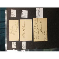 "(5) Original Autographs of famous people. Part of a unique collection. ""Your Friend, Champ Clark"", S"