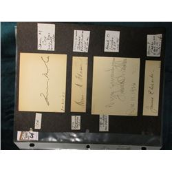"(7) Original Autographs of famous people. Part of a unique collection. ""James M. Cox 7-21-20"", Democ"