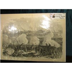 "21 3/4"" x 15 3/4"" Appears to be a Woodcut Print from the magazine ""The Soldier in our Civil War."", o"